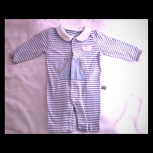 Bunnies by the Bay One Pieces - Bunnies by the Bay Striped Baby Romper Sz 6-12 mo